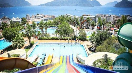 Water park in Alanya Water Planet roller coaster review