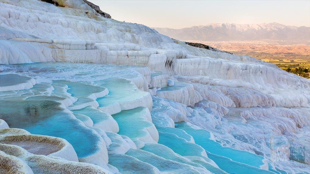 Pamukkale from Side in winter 2020