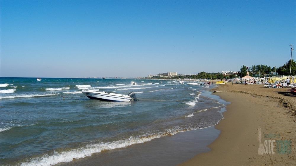 Turkey, sandy beaches in Side