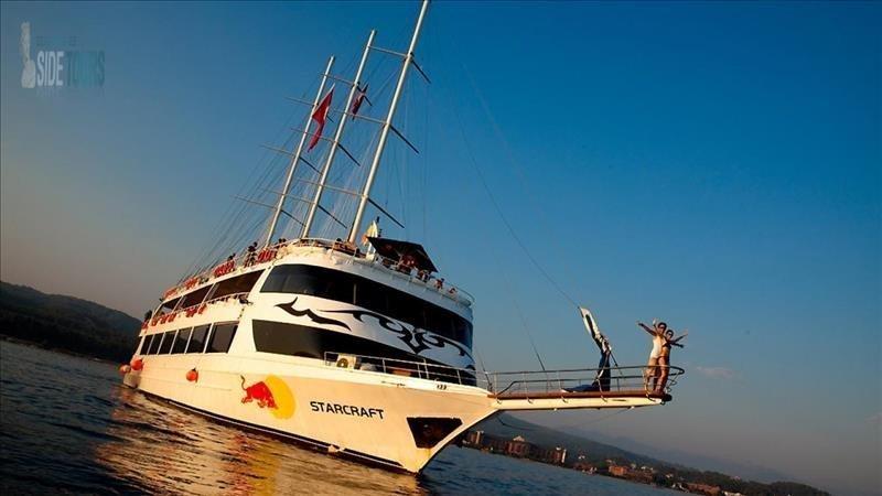 Alanya Bootsfahrt von Side Starcraft