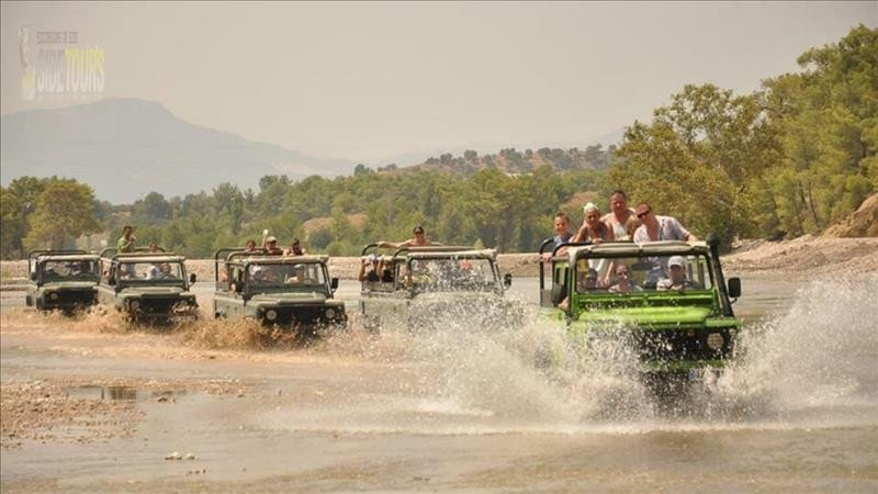 Jeep safari and rafting in Side