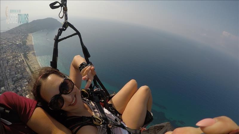 Paragliding in Side Turkey